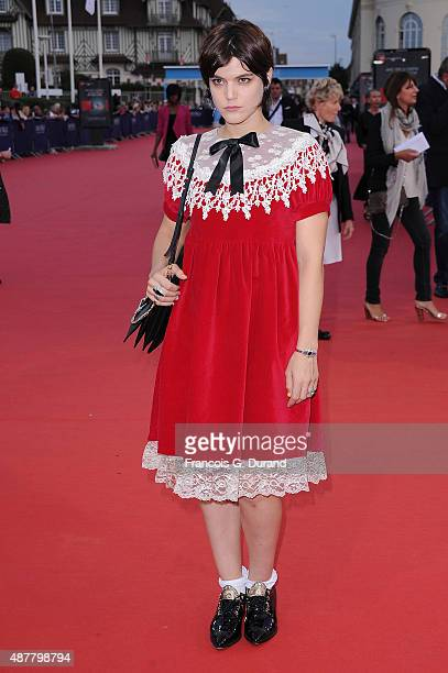 Stephanie Sokolinski alias Soko arrives at the 'The Man From UNCLE' Premiere during the 41st Deauville American Film Festival on September 11 2015 in...