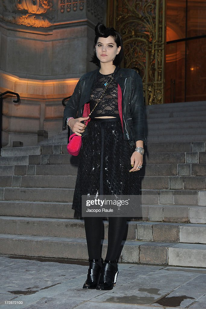 Stephanie Sokolinski arrives at 'The Glory Of Water' : Karl Lagerfeld's Exhibition Dinner at Fendi on July 3, 2013 in Paris, France.