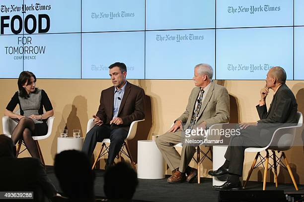 Stephanie Strom business reporter The New York Times moderates Adam Howell farmer Howell Farms Bruce Rominger farmer Rominger Brothers Farms and...
