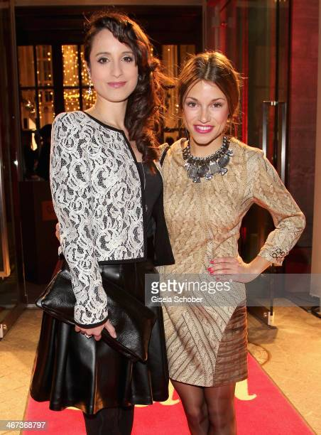 Stephanie Stumph and Anna Julia Kapfelsperger attend the Berlin Opening Night Of Gala Ufa Fiction during the 64th Berlinale International Film...