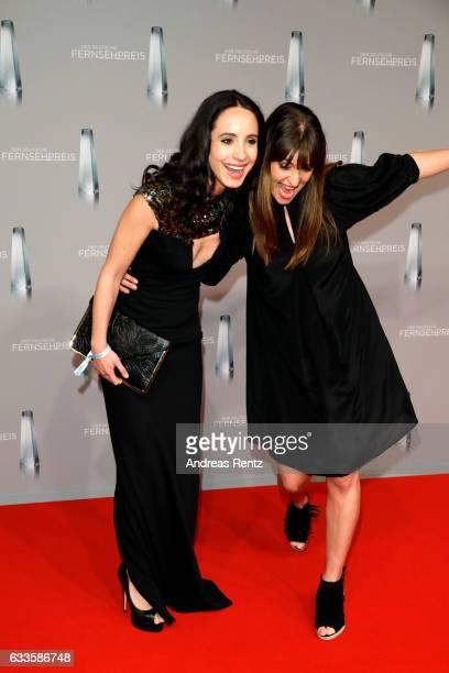 Stephanie Stumph and Ina Paule Klink attend the German Television Award at Rheinterrasse on February 2 2017 in Duesseldorf Germany