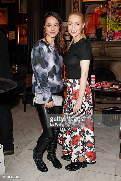 Stephanie Stumph and Luise Baehr attend the GRAZIA POP UP Breakfast on January 20 2015 in Berlin Germany