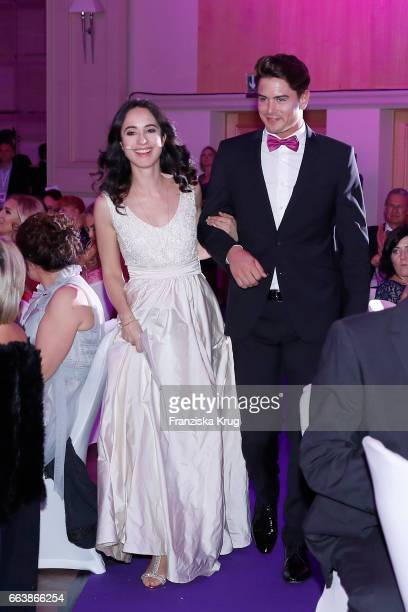 Stephanie Stumph and Mr Germany Dominik Bruntner during the Gloria Deutsche Kosmetikpreis at Hilton Hotel on March 31 2017 in Duesseldorf Germany