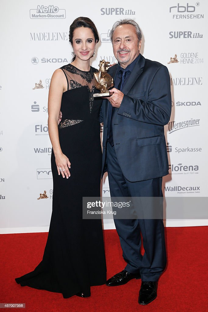 Stephanie Stumph and Wolfgang Stumph attend Madeleine at Goldene Henne 2014 on October 10 2014 in Leipzig Germany