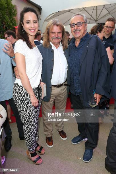 Stephanie Stumph Leslie Mandoki and Wolfgang Stumph during the Bavaria Film reception during the Munich Film Festival 2017 at Kuenstlerhaus am...