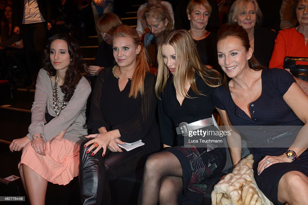 Stephanie Stumph Magdalena Brzeska Xenia Seeberg and Caroline Beil attend the Minx by Eva Lutz show during MercedesBenz Fashion Week Autumn/Winter...