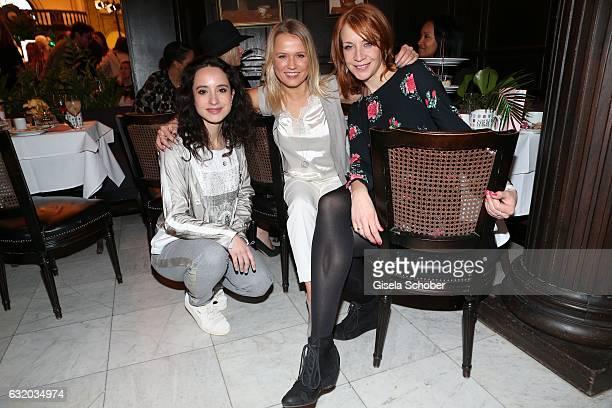 Stephanie Stumph Nova Meierhenrich and Annika Ernst attend the GRAZIA Pop Up Breakfast during the MercedesBenz Fashion Week Berlin A/W 2017 at on...