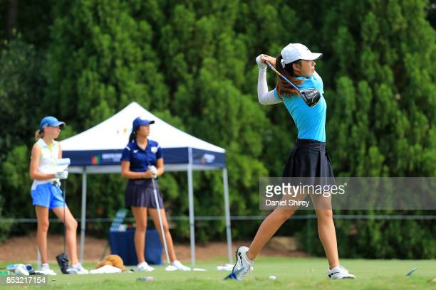 Stephanie Su during the Drive Chip and Putt Championship at The Honors Course on September 24 2017 in Ooltewah Tennessee