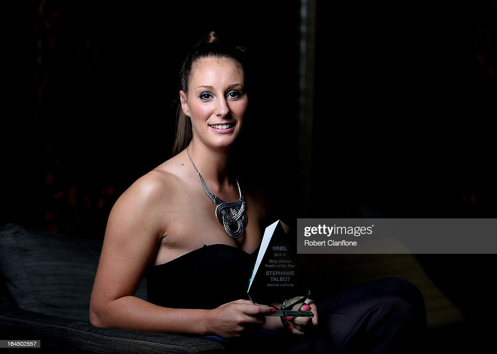Stephanie Talbot of the Adelaide Lighting poses after winning the Rookie Of the Year Award during the 2013 Basketball Australia MVP Awards at Crown Palladium on March 24, 2013 in Melbourne, Australia.