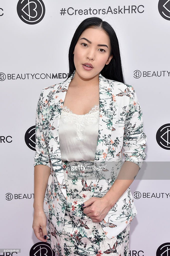 Stephanie Villa attends as Beautycon Media curates the first digital content creator town hall with Hillary Clinton at NeueHouse Los Angeles on June 28, 2016 in Hollywood, California.