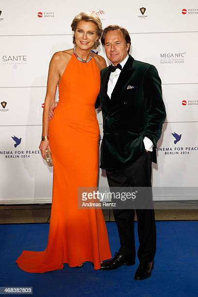 Stephanie von Pfuel and Hendrik te Neues arrive for the Cinema For Peace 2014 Gala at Konzerthaus Am Gendarmenmarkt on February 10 2014 in Berlin...