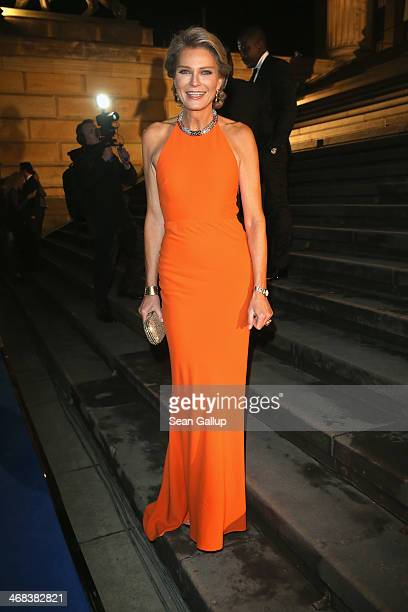 Stephanie von Pfuel arrives for the Cinema For Peace 2014 Gala at Konzerthaus Am Gendarmenmarkt on February 10 2014 in Berlin Germany
