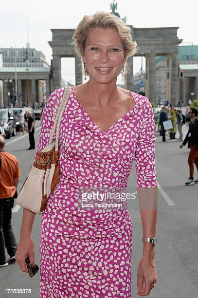 Stephanie von Pfuel attends Blacky Dress Berlin show at MercedesBenz Fashion Week Spring/Summer 2014 at Brandenburg Gate on July 3 2013 in Berlin...