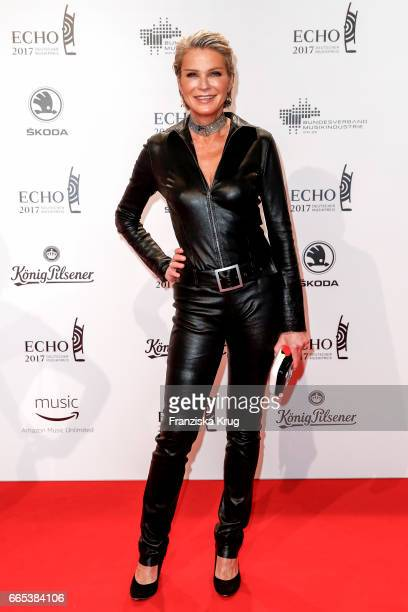 Stephanie von Pfuel attends the Echo award red carpet on April 6 2017 in Berlin Germany