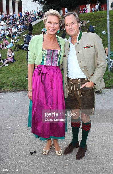 Stephanie von Pfuel Henrik TeNeues attend 'Laureus Wiesn' during Oktoberfest Opening at Theresienwiese on September 20 2014 in Munich Germany
