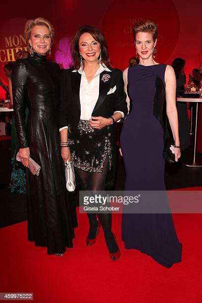 Stephanie von Pfuel Uschi Daemmrich von Luttitz Minzi zu Hohenlohe during the Mon Cheri Barbara Tag 2014 at Haus der Kunst on December 4 2014 in...