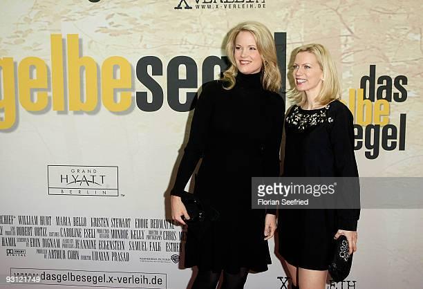 Stephanie von und zu Guttenberg and countess tv host Tamara von Nayhauss attend the premiere of 'Das gelbe Segel' at CineMaxx at Potsdam Place on...