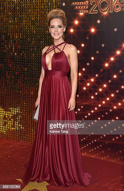 Stephanie Waring arrives for the British Soap Awards 2016 at the Hackney Town Hall Assembly Rooms on May 28 2016 in London England