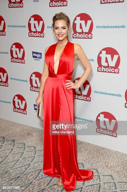 Stephanie Waring arrives for the TV Choice Awards at The Dorchester on September 4 2017 in London England