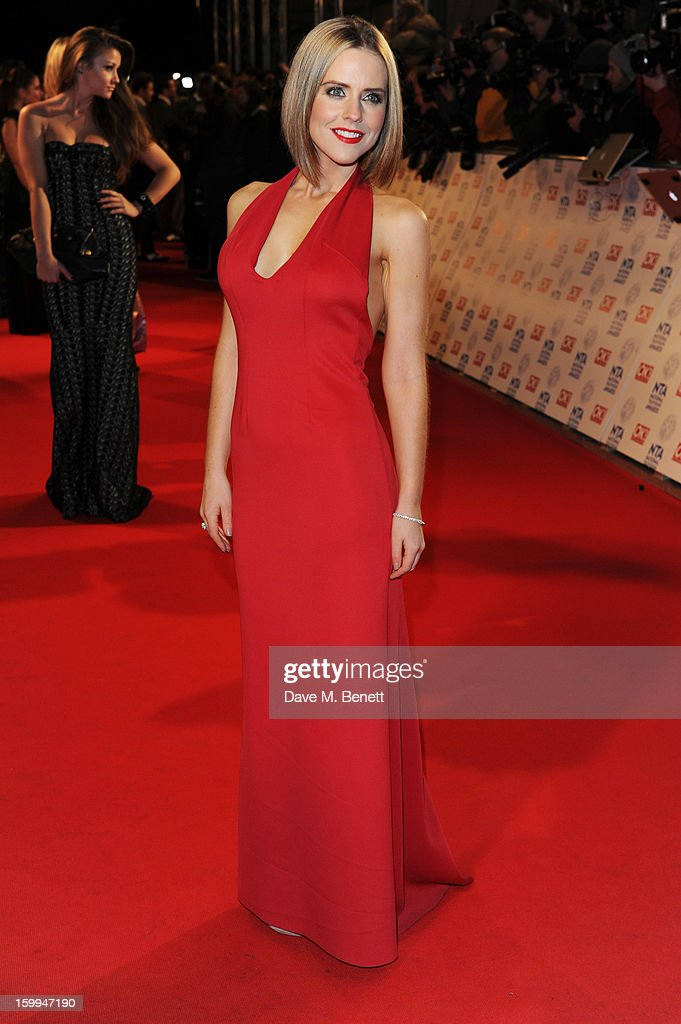 Stephanie Waring attends the the National Television Awards at 02 Arena on January 23, 2013 in London, England.