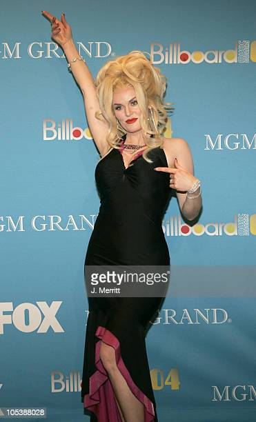 Stephanie Weir as Anna Nicole Smith during 2004 Billboard Music Awards Pressroom at MGM Grand in Las Vegas Nevada United States