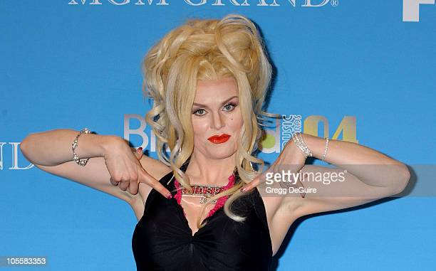 Stephanie Weir as Anna Nicole Smith during 2004 Billboard Music Awards Press Room at MGM Grand Garden in Las Vegas Nevada United States