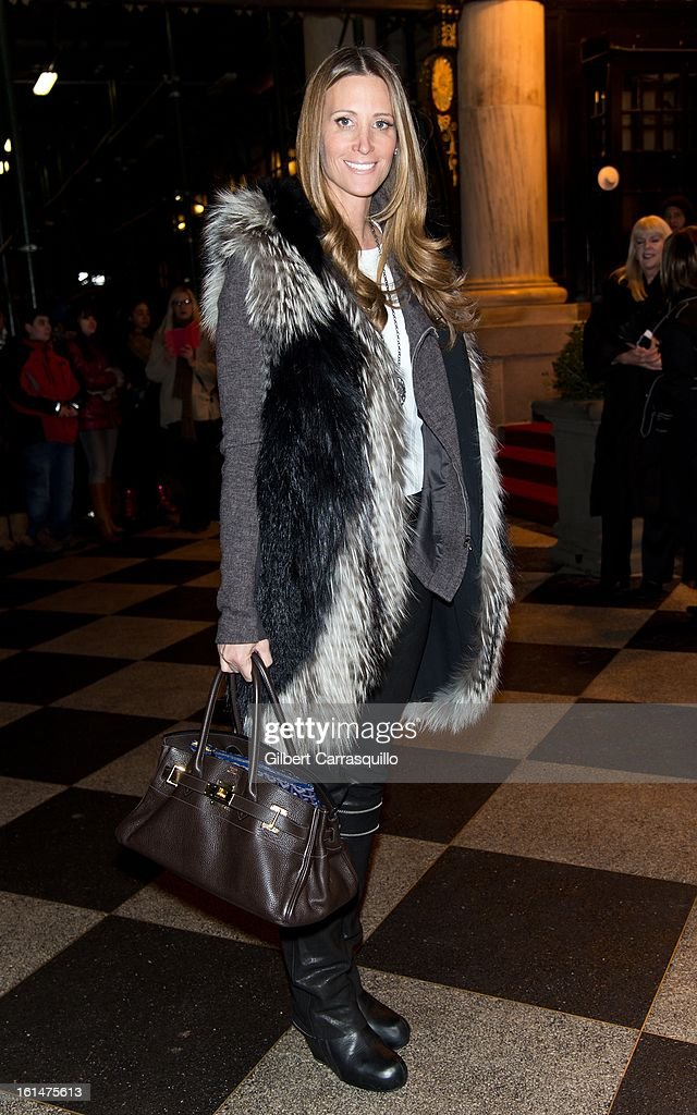 Stephanie Winston Wolkoff arrives at the Zac Posen Fall 2013 Mercedes-Benz Fashion Show at The Plaza Hotel on February 10, 2013 in New York City.