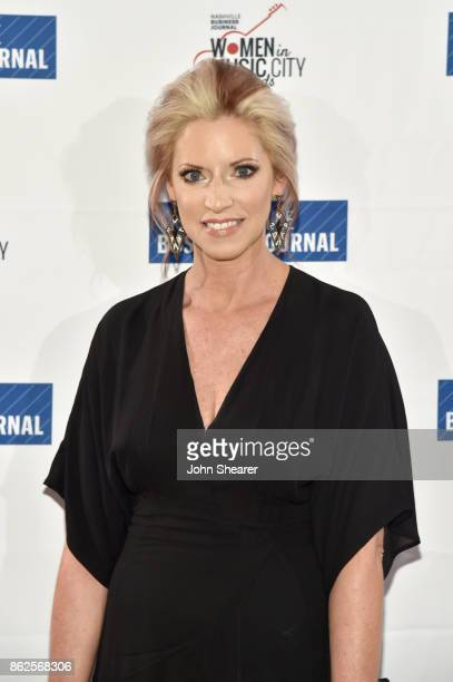 Stephanie Wright of UMG Nashville arrives at the 2017 Nashville Business Journal Women In Music City on October 17 2017 in Nashville Tennessee
