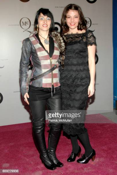 Stephanie Zolis and Kenley Collins attend McQ Alexander McQueen for Target Debuts TARGET McQ MARKET in NYC at St John's Center on February 13 2009 in...