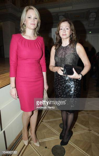 Stephanie zu Guttenberg and Vicky Leandros attend the Quadriga awards at the Konzerthaus on Gendarmenmarkt on October 3 2010 in Berlin Germany
