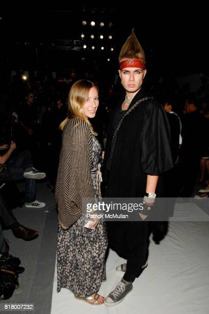 Stephany Betz and Andre Borthern attend Richie Rich 2011 Fashion Show at The Studio at Lincoln Center on September 9 2010 in New York City