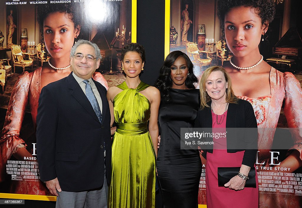 Stephen A. Gilula, Gugu Mbatha-Raw, Amma Asante and Nancy Utley attend the 'Belle' premiere at The Paris Theatre on April 28, 2014 in New York City.