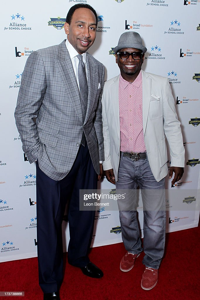 Stephen A. Smith and Guy Torry attended The Champions For Choice In Education ESPYs Kickoff Cocktail Party at Ritz Carlton on July 16, 2013 in Los Angeles, California.