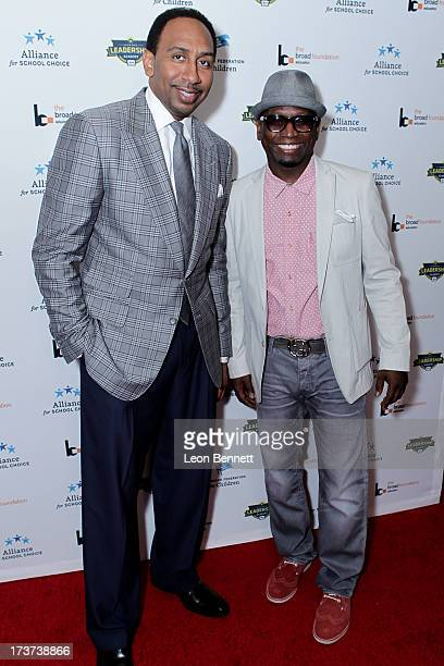 Stephen A Smith and Guy Torry attended The Champions For Choice In Education ESPYs Kickoff Cocktail Party at Ritz Carlton on July 16 2013 in Los...