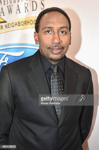 Stephen A Smith attends the 2015 Ford Neighborhood Awards Hosted By Steve Harvey at Phillips Arena on August 8 2015 in Atlanta Georgia