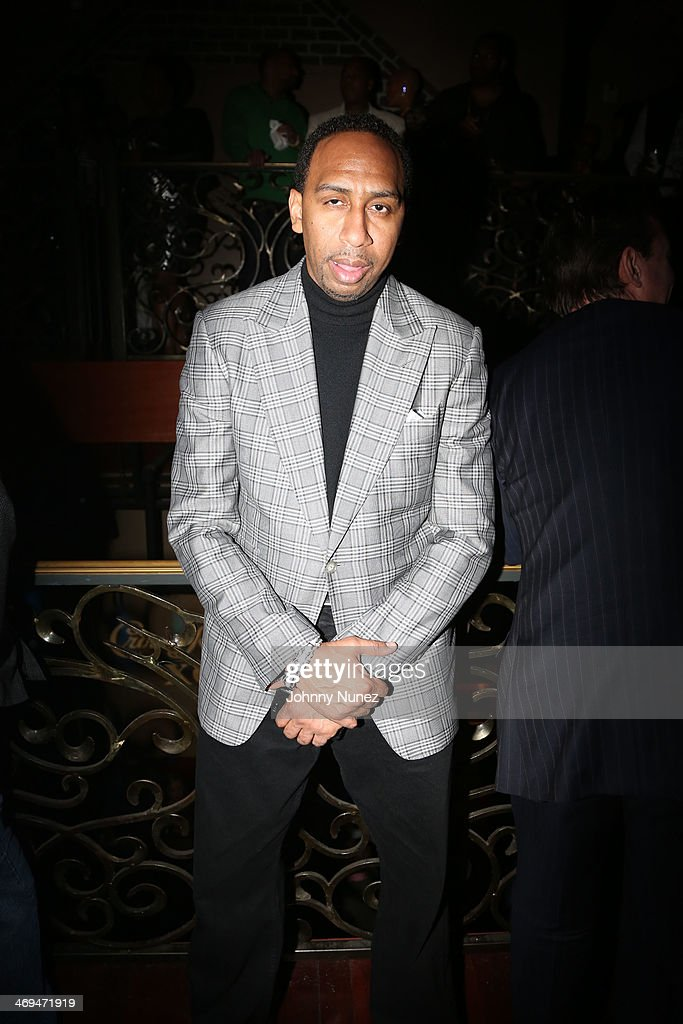 <a gi-track='captionPersonalityLinkClicked' href=/galleries/search?phrase=Stephen+A.+Smith&family=editorial&specificpeople=803159 ng-click='$event.stopPropagation()'>Stephen A. Smith</a> attends the Kenny 'The Jet' Smith all-star party during NBA All-Star Weekend 2014 at Metropolitan Nightclub on February 14, 2014 in New Orleans, Louisiana.