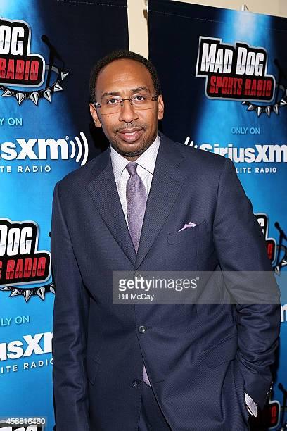 Stephen A Smith hosts SiriusXM Show from Wharton School at the University of Pennsylvania November 11 2014 in Philadelphia Pennsylvania