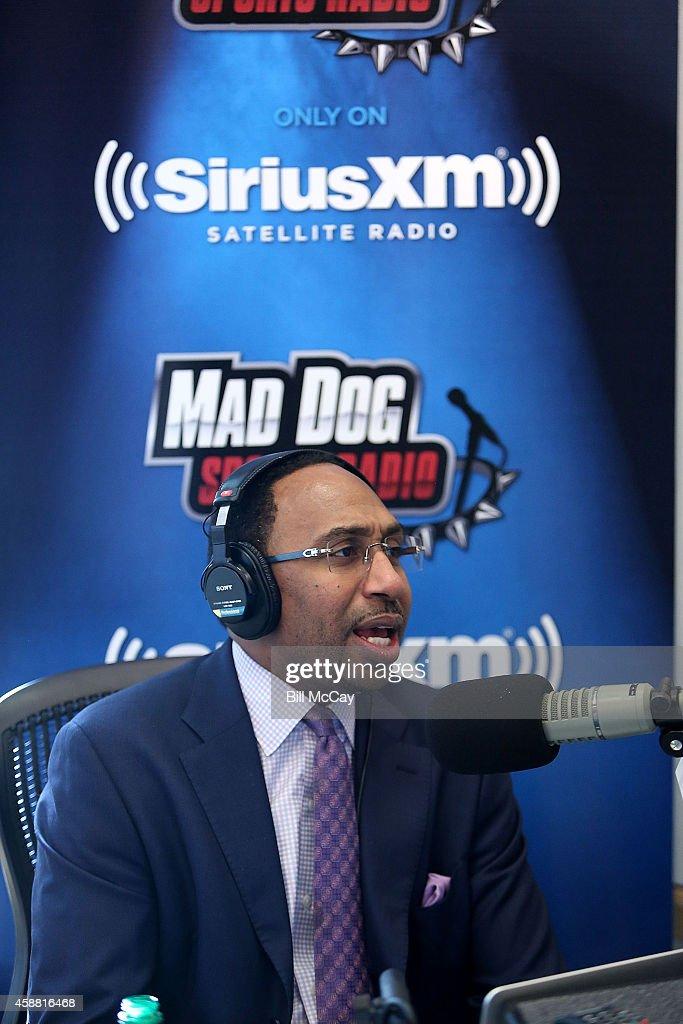 Stephen A. Smith hosts SiriusXM Show from Wharton School at the University of Pennsylvania November 11, 2014 in Philadelphia, Pennsylvania.