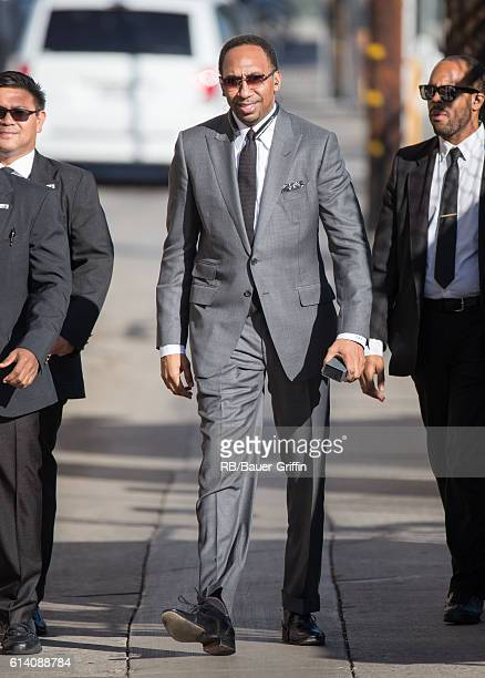 Stephen A Smith is seen at 'Jimmy Kimmel Live' on October 11 2016 in Los Angeles California