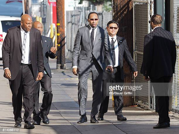 Stephen A Smith seen arriving at Jimmy Kimmel Live on October 11 2016 in Los Angeles California