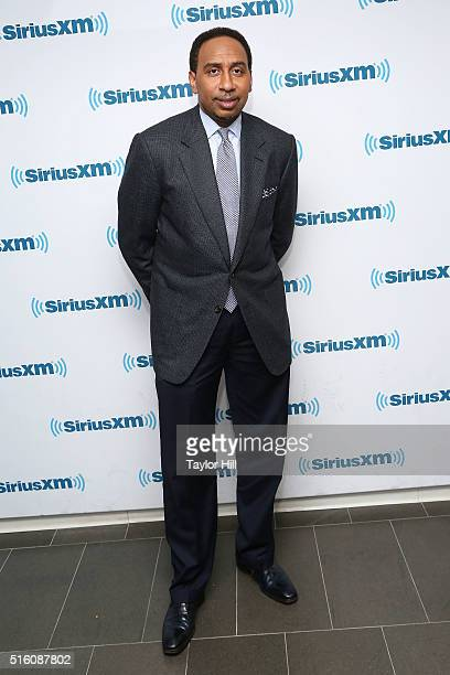 Stephen A Smith visits the SiriusXM Studios on March 16 2016 in New York City
