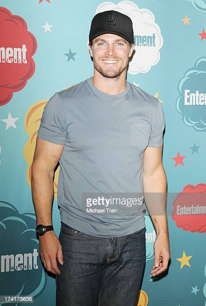 Stephen Amell arrives at the Entertainment Weekly's Annual ComicCon celebration held at Float at Hard Rock Hotel San Diego on July 20 2013 in San...