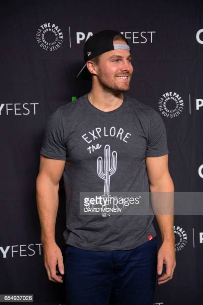 Stephen Amell attends PaleyFest LA at the Dolby Theatre on March 18 2017 in the Hollywood section of Los Angeles California / AFP PHOTO / DAVID MCNEW