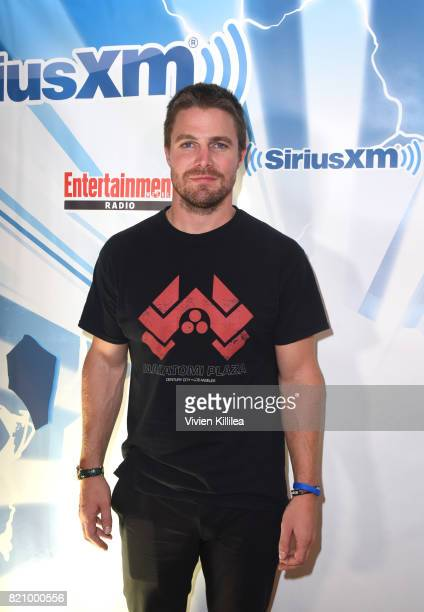 Stephen Amell attends SiriusXM's Entertainment Weekly Radio Channel Broadcasts From Comic Con 2017 at Hard Rock Hotel San Diego on July 22 2017 in...
