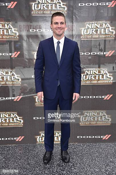 Stephen Amell attends the 'Teenage Mutant Ninja Turtles Out Of The Shadows' World Premiere at Madison Square Garden on May 22 2016 in New York City