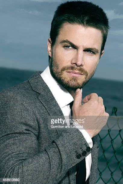 Stephen Amell is photographed for Blank Magazine on May 1 2012 in Santa Monica California