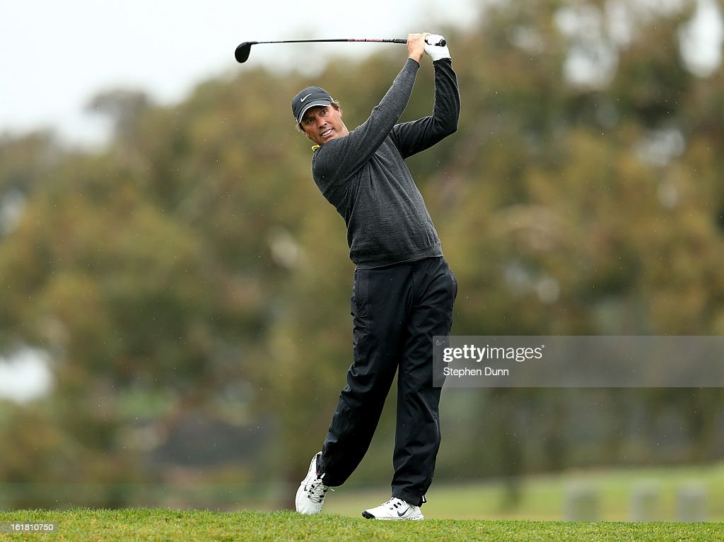<a gi-track='captionPersonalityLinkClicked' href=/galleries/search?phrase=Stephen+Ames+-+Golfer&family=editorial&specificpeople=213196 ng-click='$event.stopPropagation()'>Stephen Ames</a> hits his tee shot on the second hole during the second round of the Farmers Insurance Open on the South Course at Torrey Pines Golf Course on January 25, 2013 in La Jolla, California.