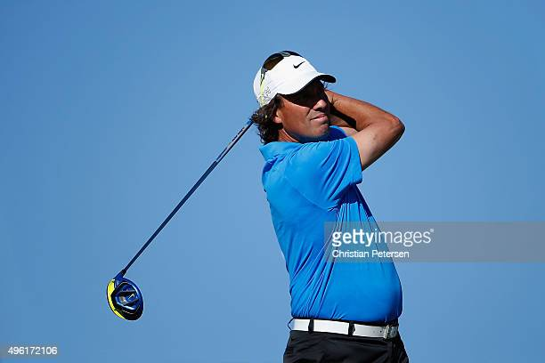 Stephen Ames of Canada plays a tee shot on the 15th hole during the third round of the Charles Schwab Cup Championship on the Cochise Course at The...