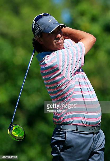 Stephen Ames of Canada plays his shot from the 18th tee during round two of the Puerto Rico Open presented by Banco Popular on March 6 2015 in Rio...