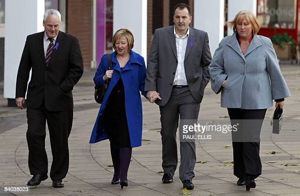 Stephen and Melanie Jones parents of murdered Rhys Jones arrive at Liverpool Crown Court in Liverpool northwest England on December 15 2008 The jury...